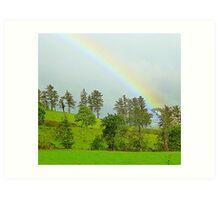 A Rainbow Over Irish Fields Art Print