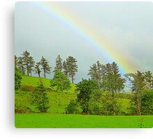 A Rainbow Over Irish Fields Canvas Print