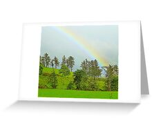 A Rainbow Over Irish Fields Greeting Card