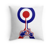 Retro Mod target and scooter Art Throw Pillow