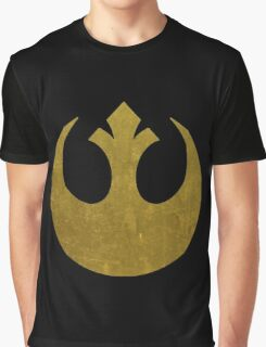Rebel Alliance Golden Symbol Graphic T-Shirt