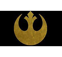 Rebel Alliance Golden Symbol Photographic Print