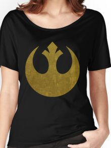 Rebel Alliance Golden Symbol Women's Relaxed Fit T-Shirt