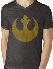 Rebel Alliance Golden Symbol Mens V-Neck T-Shirt