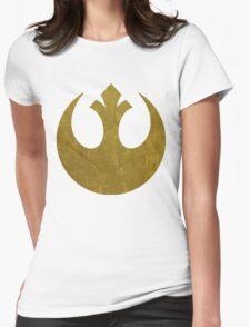 Rebel Alliance Golden Symbol Womens Fitted T-Shirt