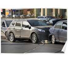 accident involving three  cars  Poster