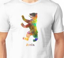 Berlin Symbol in watercolor Unisex T-Shirt