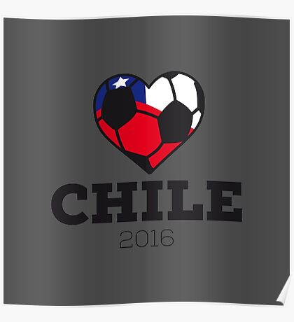 Chile Soccer Poster