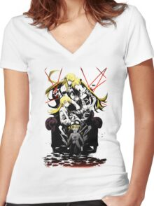 Shinobu Evo x Araragi V2 Women's Fitted V-Neck T-Shirt