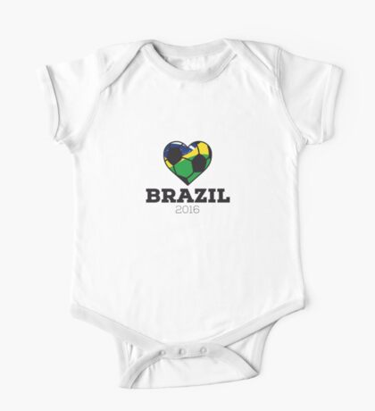 Brazil Soccer  One Piece - Short Sleeve