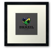 Brazil Soccer  Framed Print