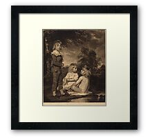John Hoppner - Children Bathing (The Hoppner Children) 1804. Child portrait: cute baby, kid, children, pretty angel, child, kids, lovely family, boys and girls, boy and girl, mom mum mam, childhood Framed Print