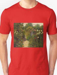 John Leslie Breck - Garden At Giverny (In Monet S Garden). Garden landscape: garden view, trees and flowers, blossom, nature, botanical park, floral flora, wonderful flowers, garden, flower Unisex T-Shirt