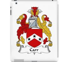 Carr Coat of Arms / Carr Family Crest iPad Case/Skin