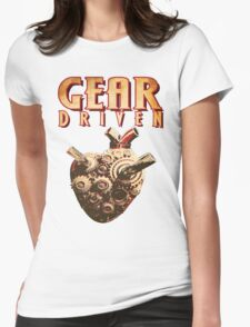 Gear Driven (No Background) Womens Fitted T-Shirt