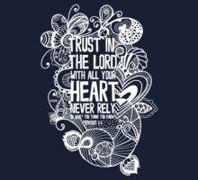 Trust in the Lord - White by Tangldltd