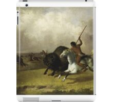 John Mix Stanley - Buffalo Hunt On The Southwestern Prairies. Hunter painting: hunting man, nature, male, forest, wild life, masculine, dogs, hunt, manly, hunters men, hunter iPad Case/Skin
