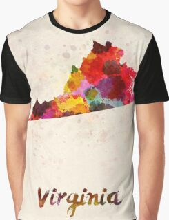 Virginia US state in watercolor Graphic T-Shirt