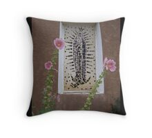 Flowers and Lady Throw Pillow