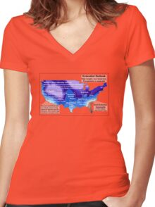 Emotional Weather Report Women's Fitted V-Neck T-Shirt