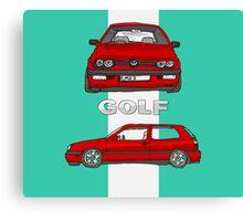 VW Gold Mk 3 (5 of 5) Canvas Print