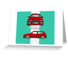 VW Gold Mk 3 (5 of 5) Greeting Card