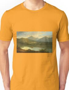 John Mix Stanley - Western Landscape. Lake landscape: trees, river, land, forest, coast seaside, waves and beach, marine naval navy, lagoon reflection, sun and clouds, nautical panorama, lake Unisex T-Shirt