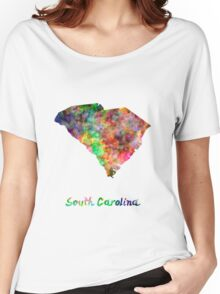 South Carolina US state in watercolor Women's Relaxed Fit T-Shirt