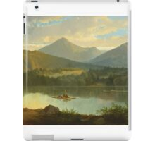John Mix Stanley - Western Landscape. Lake landscape: trees, river, land, forest, coast seaside, waves and beach, marine naval navy, lagoon reflection, sun and clouds, nautical panorama, lake iPad Case/Skin