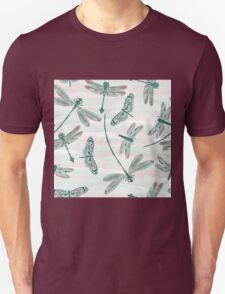 Dragonfly design on a watercolor background Unisex T-Shirt