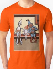 John R. Neill - Dorothy With Scarecrow And Tin Woodman. Girl portrait: cute girl, girly, female, pretty angel, child, beautiful dress, face with hairs, smile, little, kids, baby Unisex T-Shirt