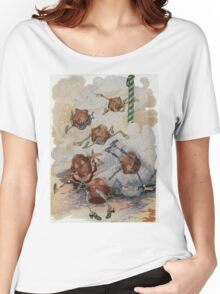 John R. Neill - Personified Muffins Tumbling Out Of Steam. Child portrait: cute baby, kid, children, pretty angel, child, kids, lovely family, boys and girls, boy and girl, mom mammy mam, childhood Women's Relaxed Fit T-Shirt