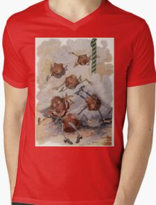 John R. Neill - Personified Muffins Tumbling Out Of Steam. Child portrait: cute baby, kid, children, pretty angel, child, kids, lovely family, boys and girls, boy and girl, mom mammy mam, childhood Mens V-Neck T-Shirt