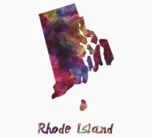 Rhode Island US state in watercolor Baby Tee