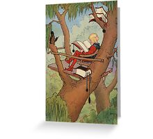 John R. Neill - Prince Inga In His  Tree-Top  Rest. Man portrait: strong man, boy, male, beard, business suite, masculine, boyfriend, smile, manly, sexy men, mustache Greeting Card