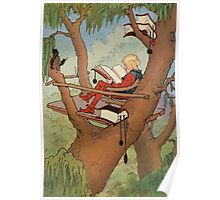 John R. Neill - Prince Inga In His  Tree-Top  Rest. Man portrait: strong man, boy, male, beard, business suite, masculine, boyfriend, smile, manly, sexy men, mustache Poster