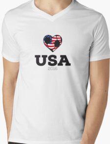 USA Soccer Mens V-Neck T-Shirt