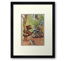 John R. Neill - The Patchwork Girl Helps The Boy. Child portrait: cute baby, kid, children, pretty angel, child, kids, lovely family, boys and girls, boy and girl, mom mum mammy mam, childhood Framed Print