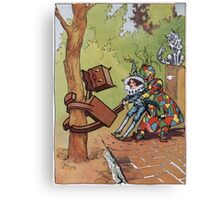 John R. Neill - The Patchwork Girl Helps The Boy. Child portrait: cute baby, kid, children, pretty angel, child, kids, lovely family, boys and girls, boy and girl, mom mum mammy mam, childhood Canvas Print