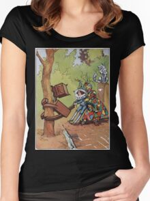 John R. Neill - The Patchwork Girl Helps The Boy. Child portrait: cute baby, kid, children, pretty angel, child, kids, lovely family, boys and girls, boy and girl, mom mum mammy mam, childhood Women's Fitted Scoop T-Shirt
