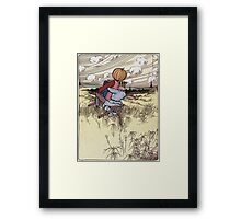 John R. Neill - The Scarecrow And Jack Pumpkinhead Riding The Saw-Horse. Child portrait: cute baby, kid, children, pretty angel, kids, lovely family, boys and girls, boy and girl, mom, childhood Framed Print
