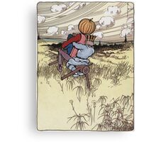 John R. Neill - The Scarecrow And Jack Pumpkinhead Riding The Saw-Horse. Child portrait: cute baby, kid, children, pretty angel, kids, lovely family, boys and girls, boy and girl, mom, childhood Canvas Print