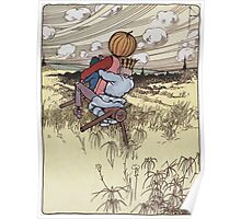 John R. Neill - The Scarecrow And Jack Pumpkinhead Riding The Saw-Horse. Child portrait: cute baby, kid, children, pretty angel, kids, lovely family, boys and girls, boy and girl, mom, childhood Poster