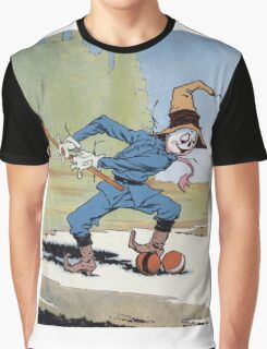 John R. Neill - The Scarecrow Swinging A Croquet Mallet. Child portrait: cute baby, kid, children, pretty angel, child, kids, lovely family, boys and girls, boy and girl, mom mum mammy mam, childhood Graphic T-Shirt