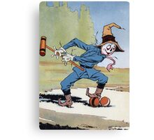 John R. Neill - The Scarecrow Swinging A Croquet Mallet. Child portrait: cute baby, kid, children, pretty angel, child, kids, lovely family, boys and girls, boy and girl, mom mum mammy mam, childhood Canvas Print
