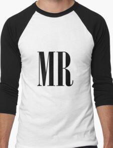 MR Throw Pillow - Matches with MRS Men's Baseball ¾ T-Shirt