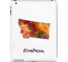 Montana US state in watercolor iPad Case/Skin