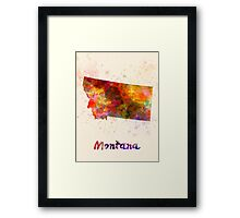 Montana US state in watercolor Framed Print
