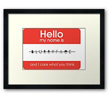Hello my name is Blurryface Framed Print