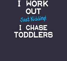 Mom chases toddlers Womens Fitted T-Shirt